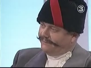 Rein Lang vene ratsaväelase mundris 18.12.2003 TV3 saates Kahvel.