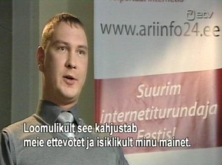 Aleksandr Võgonnoi peab spam kirjade saatmist interneti turunduse osaks. Kaader Pealtnägija